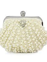 preiswerte -Damen Taschen Seide Abendtasche Perlen Verzierung für Veranstaltung / Fest Alle Jahreszeiten Weiß Schwarz Beige