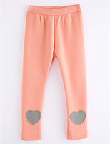 cheap -Girls' Solid Pants,Cotton Fall Simple Blushing Pink Navy Blue Gray
