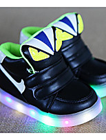 Boys' Shoes PU Winter Fall Comfort Sneakers Walking Shoes Magic Tape for Casual White Black Green Pink