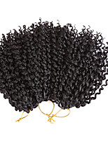cheap -8inch Kinky Curly Crochet Hair Synthetic Braiding Hair Extensions Marleybob Crochet Braids 60 strands/pack