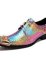 Недорогие -Для мужчин обувь Наппа Leather Весна Осень Удобная обувь Формальная обувь Туфли на шнуровке для Повседневные Для вечеринки / ужина Золотой