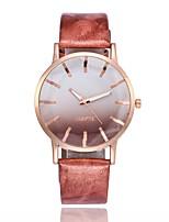 preiswerte -Damen Armbanduhren für den Alltag Modeuhr Kleideruhr Chinesisch Quartz N/A PU Band Freizeit Minimalistisch Schwarz Blau Rot Rosa Fuchsia