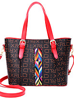 cheap -Women Bags PU Tote Pattern / Print for Casual Office & Career All Season Beige Red