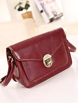 cheap -Women Bags PU Shoulder Bag Buttons Zipper for Casual All Season Red