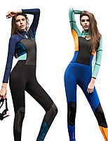 cheap -Women's 1.5mm Full Wetsuit Heat Retaining Stretchy Neoprene LYCRA® Diving Suit Long Sleeves Diving Suits Spring, Fall, Winter, Summer