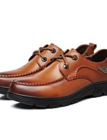 cheap -Men's Shoes Real Leather Cowhide Nappa Leather Winter Fall Formal Shoes Oxfords for Casual Office & Career Brown Black