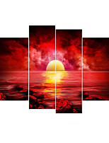 Canvas Set Classic,Four Panels Canvas Square Print Wall Decor Home Decoration