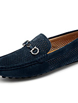cheap -Men's Shoes Real Leather Pigskin Spring Fall Comfort Loafers & Slip-Ons for Casual Khaki Blue Gray Beige