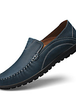 cheap -Men's Shoes Leather Spring Summer Light Soles Loafers & Slip-Ons for Casual Khaki Light Brown Blue
