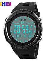 Недорогие -Муж. Жен. Спортивные часы Модные часы электронные часы Китайский Цифровой Календарь Защита от влаги Фосфоресцирующий Фаза луны силиконовый