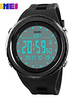 abordables -Hombre Mujer Reloj Deportivo Reloj de Moda Reloj digital Chino Digital Calendario Resistente al Agua Noctilucente Fase lunar Silicona