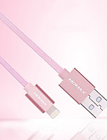 cheap -Lightning USB Cable Adapter Quick Charge Cable For iPhone 100 cm Nylon