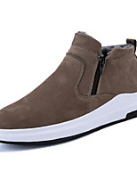 cheap -Men's Shoes Suede Winter Fall Snow Boots Boots for Casual Outdoor Khaki Gray Black