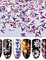 economico -6pcs Art deco Glitter per unghie Con lustrini Multicolore Strumento per la punteggiatura delle unghie