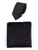 Men's Polyester Necktie,Simple Casual Dots All Seasons Black