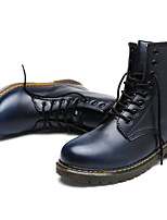 cheap -Men's Shoes PU Spring Fall Comfort Combat Boots Boots Booties/Ankle Boots for Casual Burgundy Blue Coffee Black