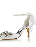 preiswerte -Damen Schuhe Stretch - Satin Frühling Sommer Pumps Hochzeit Schuhe Stöckelabsatz Spitze Zehe Kristall für Kleid Party & Festivität