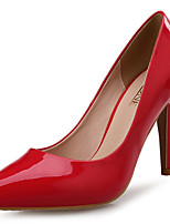 cheap -Women's Shoes Patent Leather Spring Fall Comfort Heels Stiletto Heel Pointed Toe for Wedding Party & Evening Green Red
