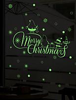 Noël Stickers muraux Autocollants avion Autocollants muraux décoratifs,Vinyle Décoration d'intérieur Calque Mural Fenêtre