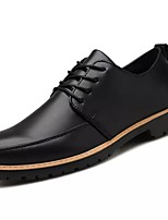 cheap -Men's Shoes Synthetic Microfiber PU Winter Light Soles Oxfords for Casual Orange Black