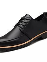 Недорогие -Для мужчин обувь Искусственное волокно Зима Светодиодные подошвы Туфли на шнуровке для Повседневные Черный Оранжевый