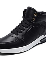 cheap -Men's Shoes PU Spring Fall Comfort Sneakers for Casual Black/White Red Black White