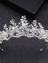 cheap -Women's Headband,Basic Classic Bride & Groom Style Crystal All Seasons Silver