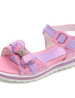 cheap -Girls' Shoes Leatherette Spring Fall Comfort Sandals for Casual Pink Peach Purple White