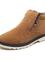 cheap -Men's Shoes Suede Winter Fall Fur Lining Comfort Boots Booties/Ankle Boots for Casual Outdoor Brown Black