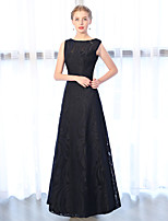 cheap -A-Line Bateau Neck Ankle Length Lace Formal Evening Dress with Embroidery Lace by Embroidered Bridal