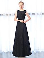 preiswerte -A-Linie Bateau Hals Knöchel-Länge Spitze Formeller Abend Kleid mit Stickerei Spitze durch Embroidered Bridal