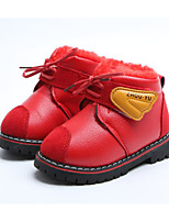 cheap -Girls' Shoes Leatherette Winter Fall Comfort Snow Boots Boots Booties/Ankle Boots for Casual Red Yellow Black