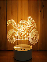 economico -1 set di 3d mood night light mano sensazione dimmerabile alimentato usb lampada da moto