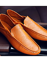 cheap -Men's Shoes PU Spring Fall Comfort Loafers & Slip-Ons for Casual Blue Brown Black White