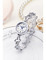 cheap -Women's Fashion Watch Bracelet Watch Wrist watch Chinese Quartz Water Resistant / Water Proof Alloy Band Sparkle Bangle Elegant Silver