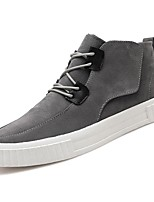 cheap -Men's Shoes Rubber Spring Fall Comfort Sneakers Ribbon Tie for Outdoor Brown Gray Black