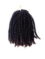 Недорогие -Вязание крючком для волос 1pack Косы Кудрявый Плотный завиток 8 дюйм Мягкость Новое поступление Синтетический Черный / Темно-рыжий Черный