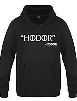 Hodor Ugly Christmas Sweater / Sweatshirt Male Festival / Holiday Halloween Costumes Yellow Red White Letter