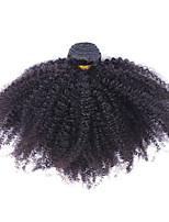 Недорогие -1 шт. Натуральные черные необработанные малайзийские человеческие волосы сплетены наращивания волос