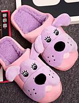 cheap -Women's Shoes Fleece Winter Fall Comfort Slippers & Flip-Flops Flat Heel for Casual Purple Gray