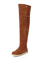 economico -Da donna Scarpe Felpato Inverno Autunno Stivali stivali slouch Stivaletti Ballerina Punta tonda Stivali alti Stivali oltre il ginocchio