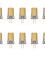 10pcs 2W G4 Luces LED de Doble Pin 1 leds COB Blanco Cálido Blanco Fresco 80lm 3500/6500K AC 100-240V
