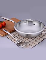 economico -Acciaio inossidabile Acciaio inossidabile Piatto Pan Pot multiuso,32*9.3