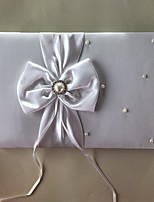 cheap -Satin Romance Fantacy WeddingWithBowknot Faux Pearl 1 Package Box Guest Book
