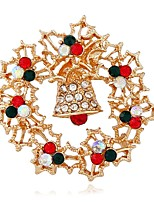 cheap -Women's Brooches Rhinestone Fashion European Alloy Circle Jewelry For Christmas Gift