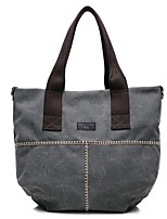 cheap -Women Bags Canvas Shoulder Bag Zipper for Event/Party Casual Winter Fall Khaki Coffee Gray White Blue