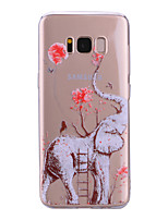 cheap -Case For Samsung Galaxy S8 Plus S8 IMD Pattern Back Cover Transparent Elephant Soft TPU for S8 Plus S8 S7 edge S7 S6 edge S6 S5