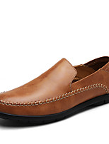 cheap -Men's Shoes Cowhide Spring Fall Comfort Loafers & Slip-Ons for Casual Office & Career Brown Black