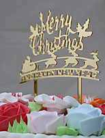 Cake Topper Holiday Acrylic Euramerican Chrismas Plastic Others Carnival with Acrylic Bows 1 OPP