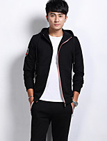 cheap -Men's Going out Casual/Daily Activewear Set Print Hooded Micro-elastic Polyester Long Sleeves Winter Fall